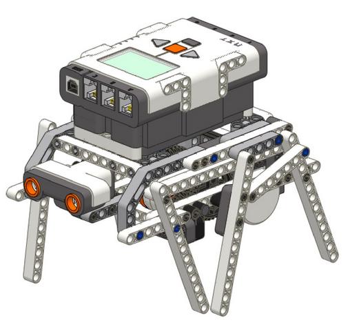 шагающий робот ev3 сборка в картинках